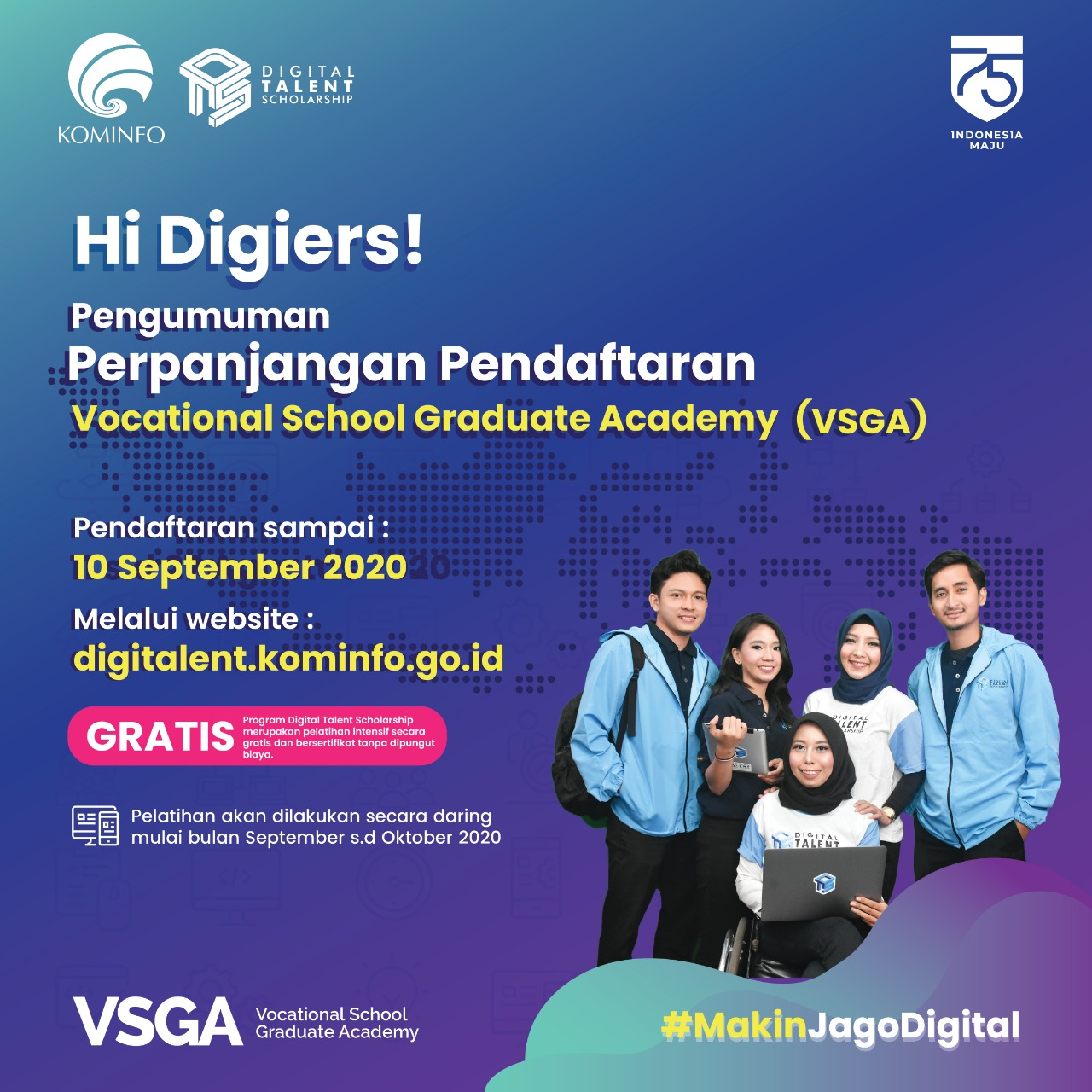 Foto Artikel: Beasiswa Digital Talent Scholarship 2020 PNUP